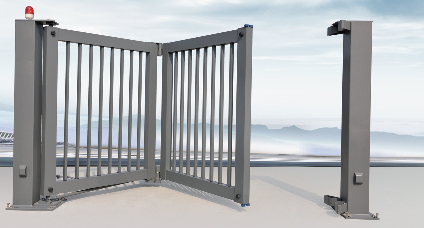 Collapsible Bi Folding Gates With Anti-Climb Photo Cell